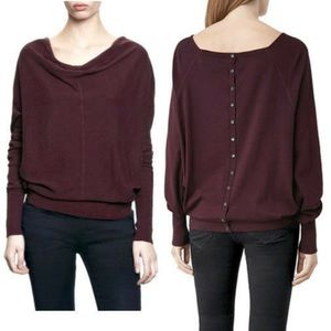 ALL SAINTS brown button back sweater